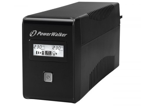 UPS POWERWALKER LINE-INTERACTIVE 850VA 2X SCHUKO OUT, RJ11 IN/OUT, USB, LCD