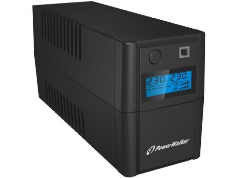 PowerWalker UPS POWERWALKER LINE-INTERACTIVE 850VA, 2X SCHUKO, RJ11 IN/OUT, USB, LCD