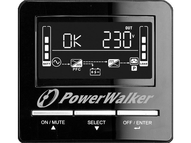 UPS POWERWALKER LINE-INTERACTIVE 1500VA 8X IEC OUT, RJ11/RJ45 IN/OUT, USB, SNMP SLOT