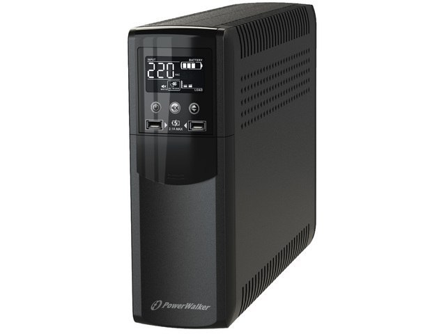 UPS POWERWALKER LINE-INTERACTIVE CSW 1200 VA 4X FR OUT, RJ11/RJ45 IN/OUT, USB, 2X USB ŁADOWARKA