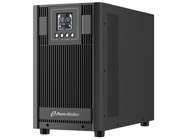 UPS POWERWALKER ON-LINE 3000VA AT 4X FR+TERMINAL OUT, USB/RS-232, LCD, TOWER, EPO