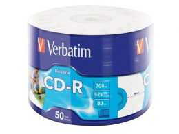CDR VERBATIM 700MB EXTRA PROTECTION PRINTABLE WRAP (SPINDLE 50)