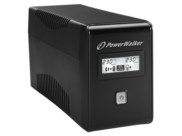 UPS POWERWALKER LINE-INTERACTIVE 650VA 2X SCHUKO OUT, RJ11 IN/OUT, USB, LCD