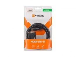 KABEL HDMI(M)->DVI-D(M)(18+1) 3M CZARNY SINGLE LINK GOLD NATEC EXTREME MEDIA (BLISTER)